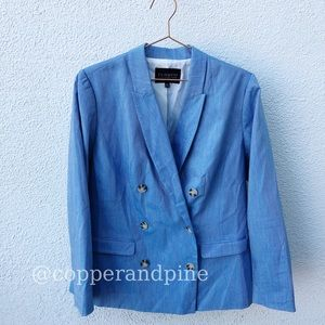 Eloquii Blue Nautical Blazer Size 14